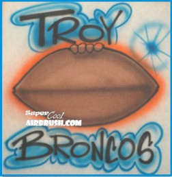 airbrush football design